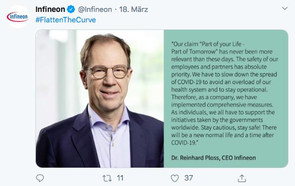 Tweet von Infineon