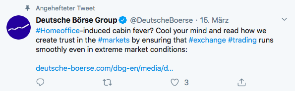 Angehefteter Tweet von Deutsche Börse